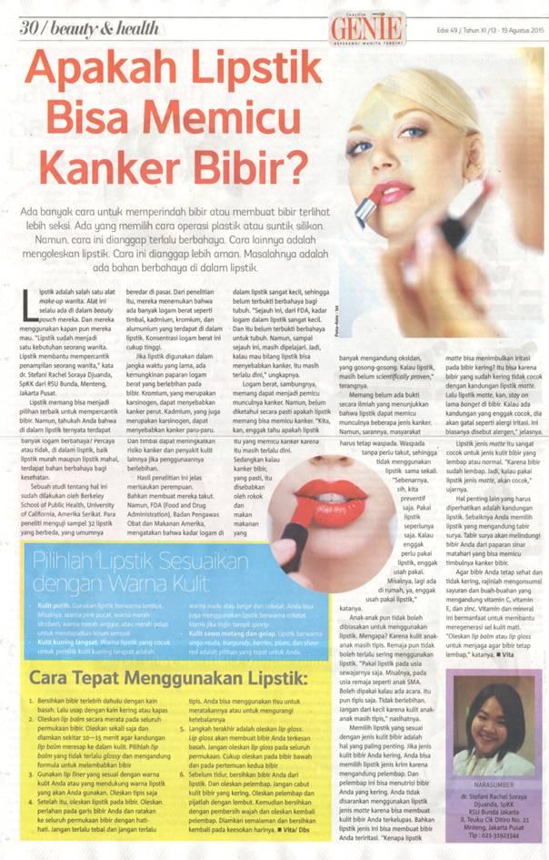 Apakah lipstik bisa memicu kanker bibir_GenieAgs2015